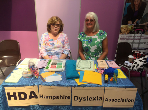 Angela Higgs and Jan Cuerden at SpLD day at Oasis Academy in Southamton 01 06 19