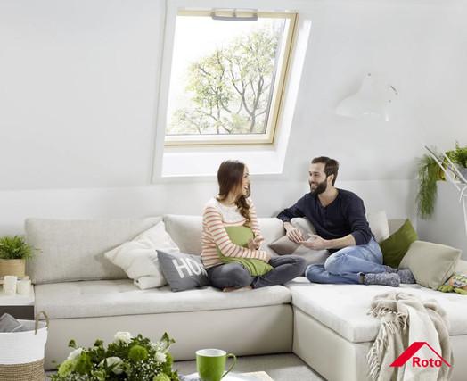 Roto Dachfenster für ein gesundes Raumklima