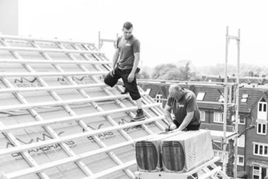 Dacheindeckung in Rahmen einer Dachsanierung