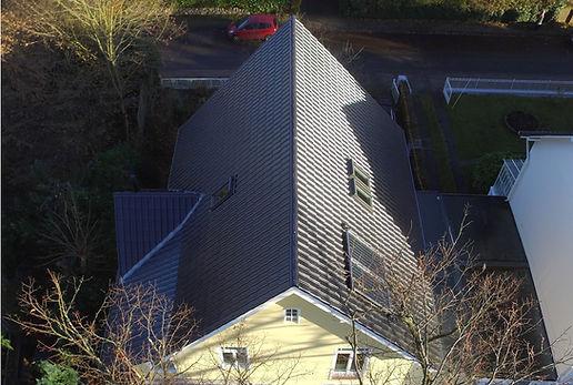 Dacheindeckung mit der Pfanne der Fa. Nelskamp