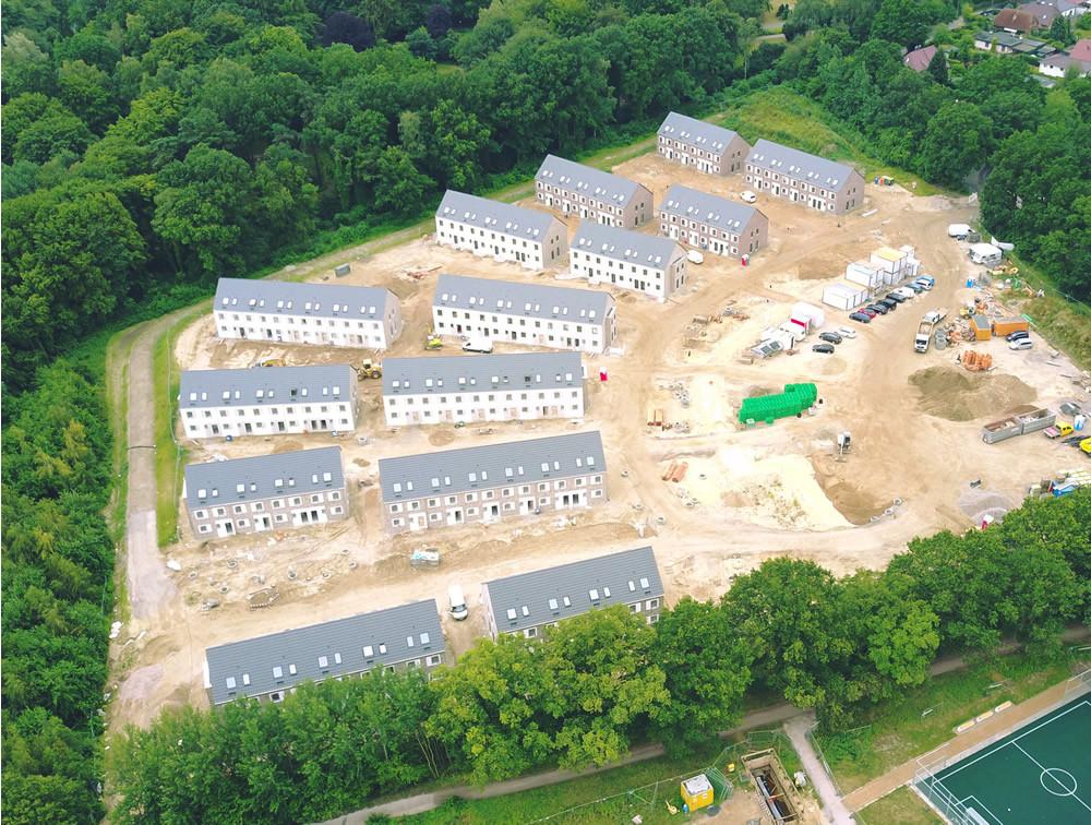Dacheindeckung Neubau Siedlungsgebiet Hamburg-Jenfeld