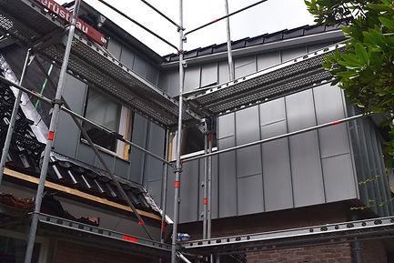 Metallverkleidung der Fassade