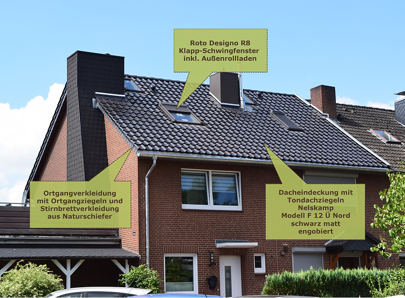 Energetische Dachsanierung Reihenhäuser