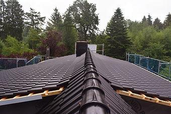 Dacheindeckung mit Nelskamp Pfanne