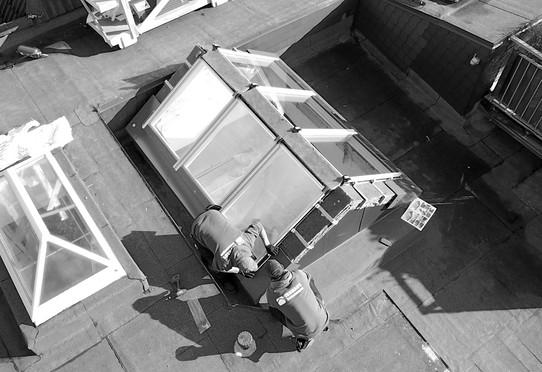VELUX Einbau modulares Oberlicht-System