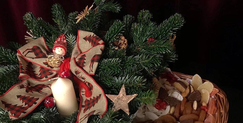 Christmas dried fruit box