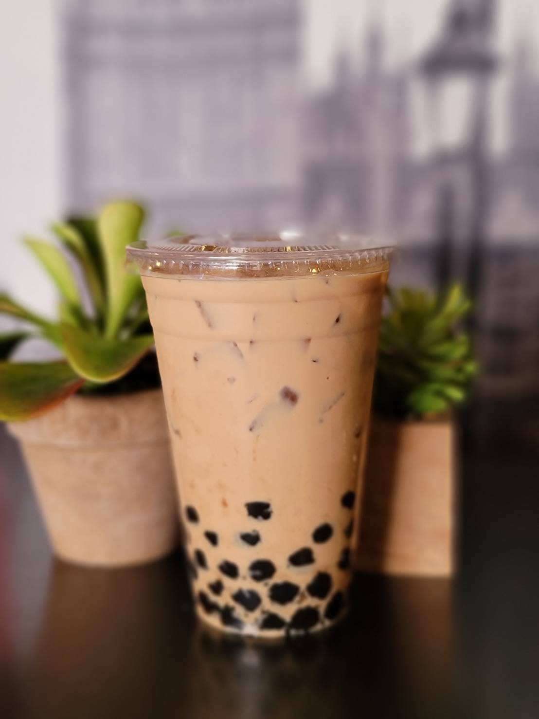 Milk Tea with Agar Boba