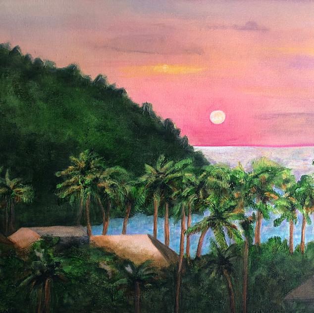 Sunset in La Manz