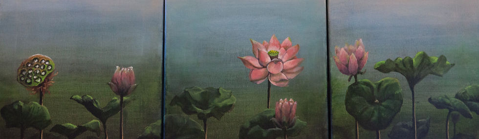 Lotus (acrylic) by Welmoet Glover