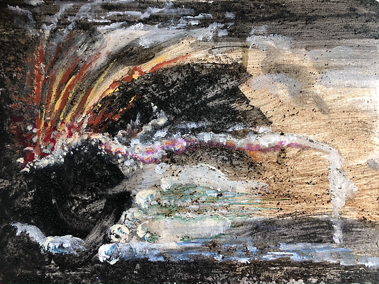 volcano, natural pigments, ode to Pele