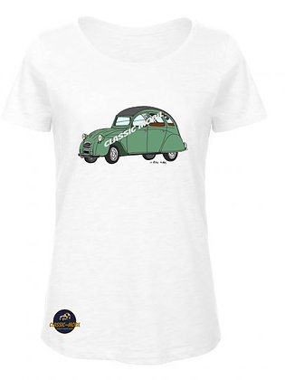 2 CV verte / BIO T-Shirt Femme