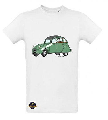 2 CV verte / Tee shirt Homme coton BIO