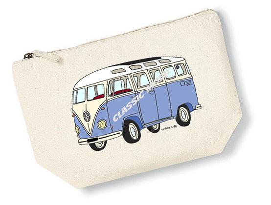 Van bleu / Pochette coton