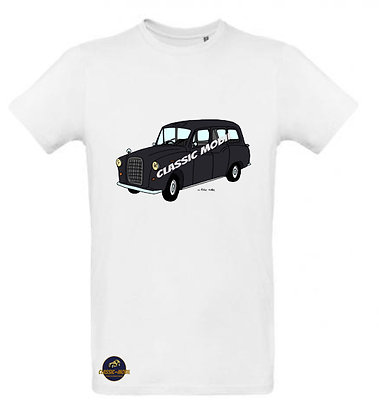 Austin FX4 Taxi Black cab / Tee shirt Homme coton BIO