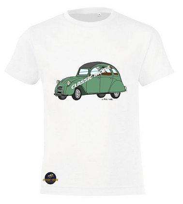 2 CV verte / Tee-shirt coton Garçon