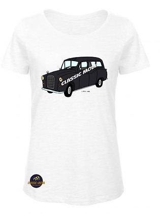 Austin FX4 Taxi Black cab / T-Shirt Femme coton bio