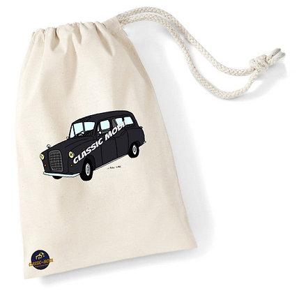 Austin FX4 Taxi Black cab / Sac pochon coton bio