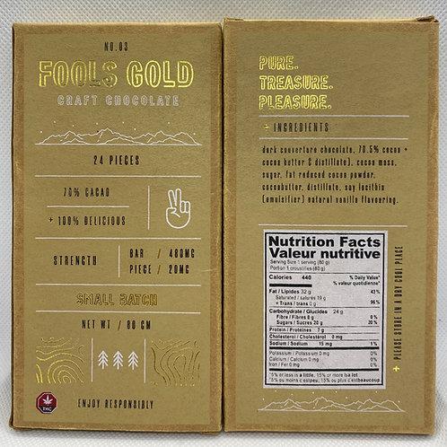 Fools gold.70% Cocoa. 480mg