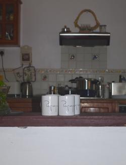 papaya seychelles guesthouse kitchen