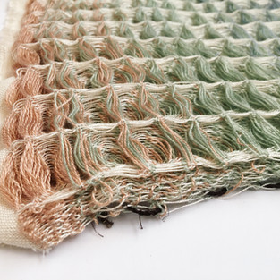 01. Materials: Cotton, Tencel. Dyes: Seaweed, Chlorophyll, Indigo.