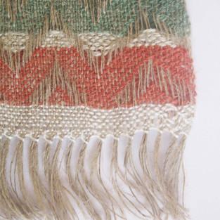 18. Materials: Linen, Wool, Tencel. Dyes: Madder, Chlorophyll.
