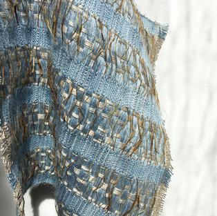 08. Materials: Bamboo, Mohair, Ramie Bark, Tencel. Dyes: Indigo, Seaweed.