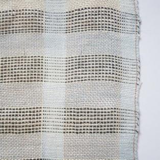 09. Materials: Tencel, Bamboo, Nettle. Dyes: Indigo, Seaweed, Chlorophyll.