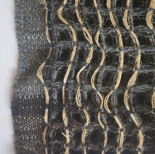 02. Materials: Wool, Banana. Undyed