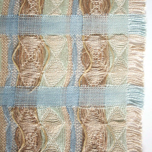 07. Materials: Tencel, Bamboo, Wool. Dyes: Seaweed, Indigo, Chlorophyll.