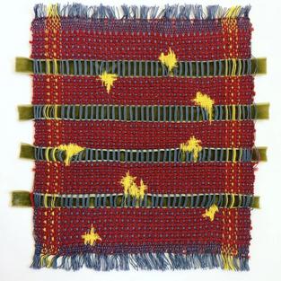 27. Materials: Cotton, Velvet Ribbon, Wool.
