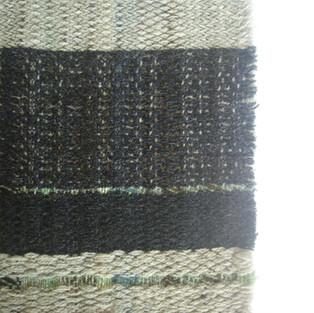 11. Materials: Wool. Dyes: Indigo, Chlorophyll.