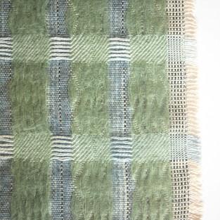 03. Materials: Mohair, Bamboo, Tencel. Dyes: Indigo, Chlorophyll, Seaweed.