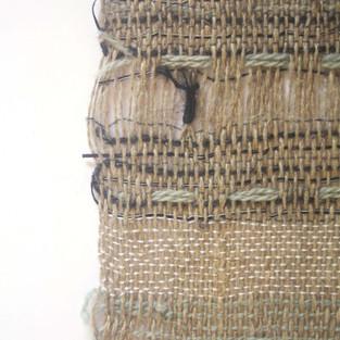 06. Materials: Linen, Wool, Tencel. Dyes: Woad.