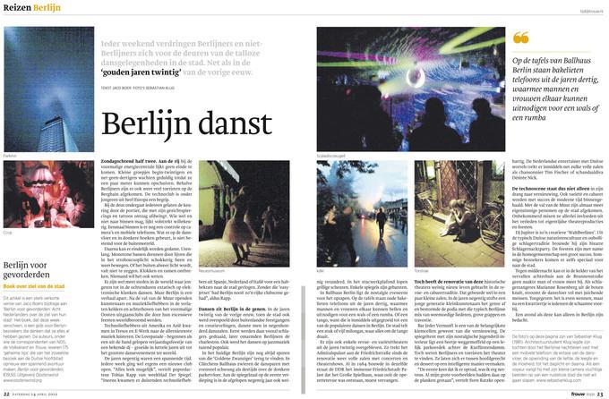 """article in dutch newspaper """"Trouw"""""""