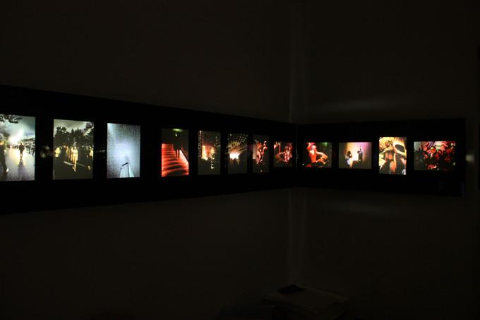 Lightbox installation, Berliner Kunstsalon 2011