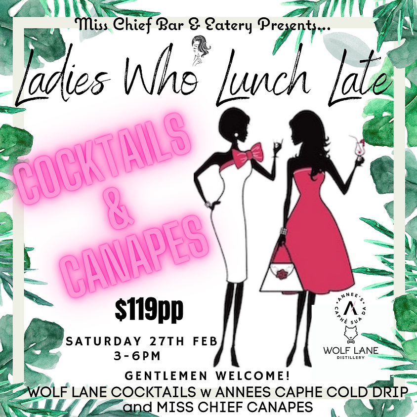 Ladies Who Lunch Late!