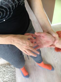 vingers masseren vingers