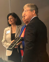"Dr. Carlessia Hussein receives the ""Promise of Health in Howard County Award"""