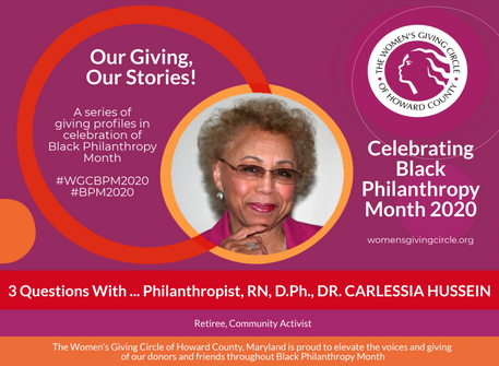 Women's Giving Circle of Howard County Recognize Dr. Carlessia Hussein for Black Philanthropy Mo