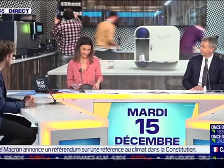 "auum était en direct dans l'emission ""Good Morning Business"" sur BFM TV"