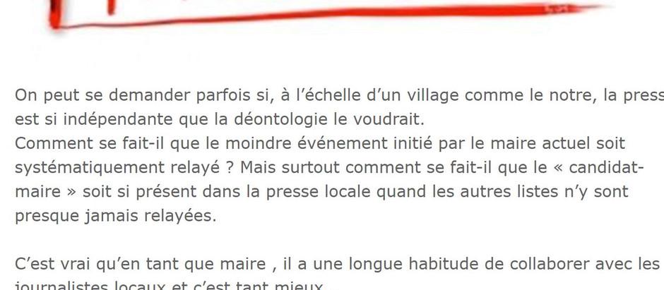 BILLET DE (MAUVAISE) HUMEUR...