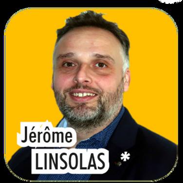 """Jérôme LINSOLAS, 39 ans, maître de maison en hôtellerie. """"J'ai toujours été passionné par l'écologie, et l'environnement. C'est avec grand plaisir que j'accompagnerai Christiane David et Estelle Schneider sur ces problématiques plus qu'importantes dans notre vie actuelle. """""""