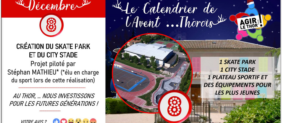 Jour 8 : Création du Skatepark et City stade...