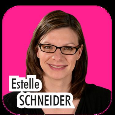 """Estelle Schneider, 36 ans, directrice déléguée. """"J'ai accompagné pendant 6 ans Christiane David sur les sujets environnementaux. Je souhaite poursuivre ma mission pour l'aider à réussir la transition énergétique de notre territoire et à faciliter la mise en oeuvre des démarches éco-durables."""""""