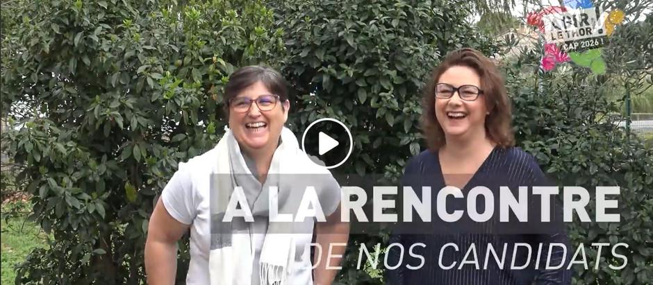 A LA RENCONTRE DE NOS CANDIDATS : Éliane et Laetitia  !