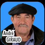 """André GIRAUD, """"Dédé"""", 69 ans, agriculteur. """"J'étais déjà dernier de la liste lors de la précédente élection municipale... et je le suis à nouveau cette année ! Je tenais personnellement à ce que les colis de Nöel soient distribués par les élus à nos anciens : l'équipe municipale dirigée par Yves Bayon de Noyer a tenu sa promesse, et ce sont plus de 500 colis qui sont apportés chaque fin d'année à nos aînés : et de cela j'en suis fier !"""""""