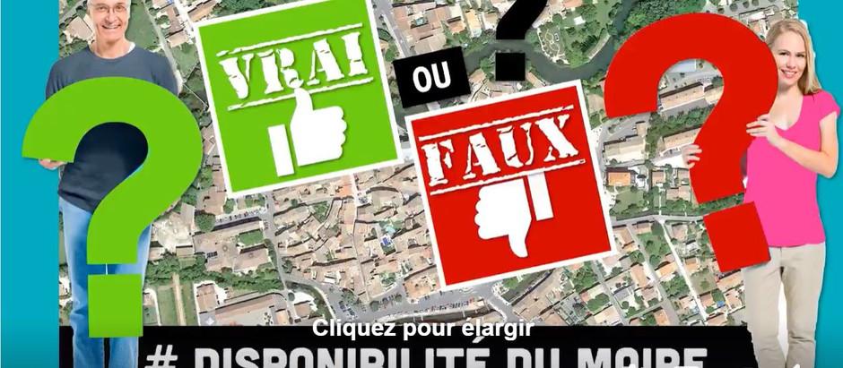 VRAI / FAUX # DISPONIBILITÉ