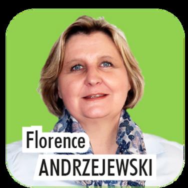 """Florence ANDRZEJEWSKI, 48 ans, Cadre en ingénerie des risques. """"Actuellement, déléguée au Patrimoine, et à l'origine de la réhabilitation complète de notre Beffroi, je souhaite également prendre en responsabilité la Culture pour la prochaine mandature et dynamiser l'offre culturelle thoroise par la création de la future médiathèque""""."""