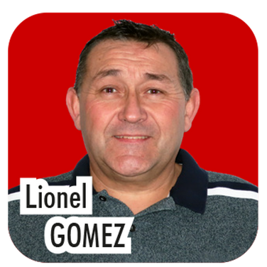"""Lionel GOMEZ, 49 ans, restaurateur - 30 ans d'expérience en tant que conducteur de travaux. """"Je suis actuellement Délégué aux travaux et je souhaite poursuivre cette mission, en y intégrant la gestion des déchets et la signalétique directionnelle""""."""