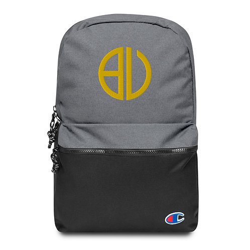 Be You Logo Gold Embroidered Champion Backpack